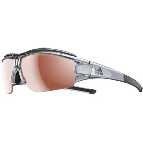 adidas Evil Eye Halfrim Pro Glasses L, grey trans shiny/lst active silver